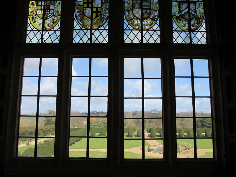 Window in the old Great Chamber at Montacute House (now a library)