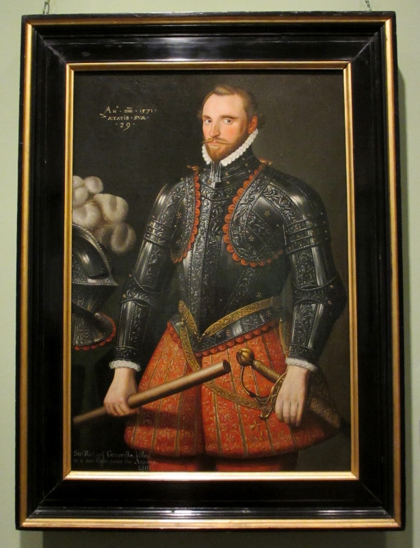 Sir Richard Grenville, painted in 1571 at the age of 29