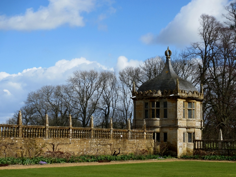 One of the pavillions which once formed part of Montacute's great entrance court